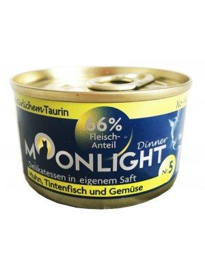 Moonlight Dinner Nr 5 - Kurczak, kałamarnica, marchew i dynia 80g