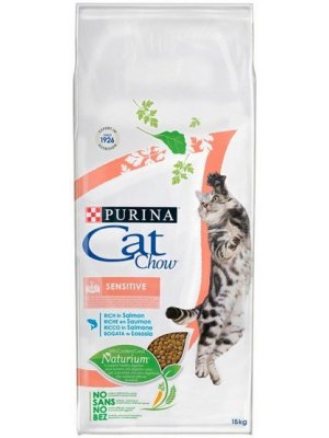 Purina Cat Chow Sensitive Łosoś 15kg