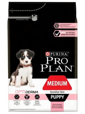 Purina Pro Plan Medium Puppy Sensitive Skin Łosoś 12kg