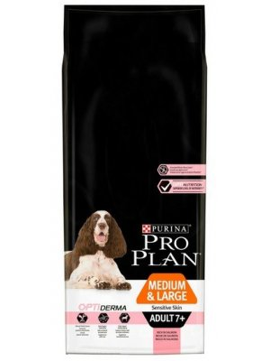 Purina Pro Plan Medium & Large Adult 7+ Sensitive Skin Łosoś 14kg