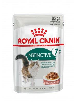 ROYAL CANIN Instinctive +7 w sosie 85g karma mokra w sosie dla kotów starszych, wybrednych