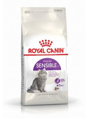 ROYAL CANIN Sensible 10kg karma sucha dla kotów dorosłych, o wrażliwym przewodzie pokarmowym