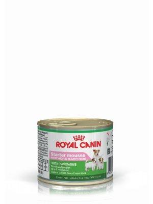 ROYAL CANIN Starter Mousse Mother & Babydog 195g karma mokra - mus, dla suk w czasie ciąży, laktacji oraz szczeniąt