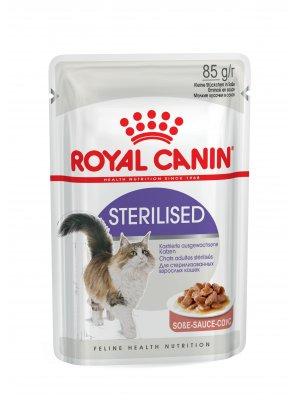 ROYAL CANIN Sterilised w sosie 85g karma mokra w sosie dla kotów dorosłych, sterylizowanych