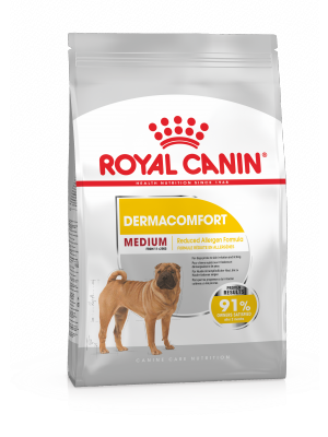 ROYAL CANIN Medium Dermacomfort 3kg karma sucha dla psów dorosłych, ras średnich o wrażliwej skórze