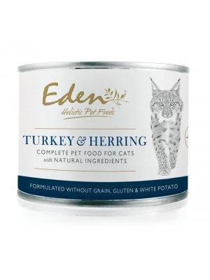 EDEN - Mokra karma dla Kotów Indyk i Śledź 200g