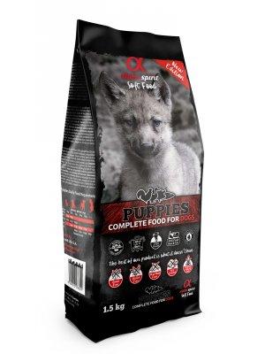 Alpha Spirit Pełnoporcjowa karma sucha miękka puppies 1,5kg