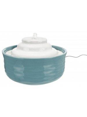 Trixie Poidło fontanna Vital Falls, ceramiczne, 1.5 l, petrol/biały
