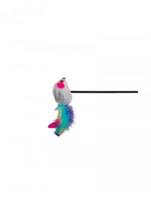 Zabawka patyk z myszką 50 cm