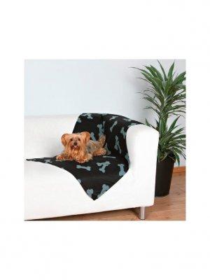 Trixie Koc Czarny w szare kości - 100x70 cm