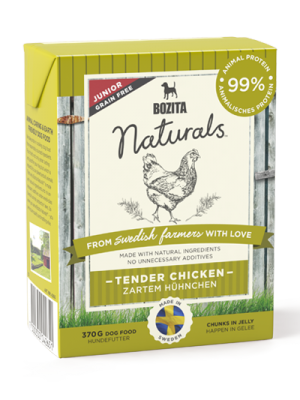 BOZITA NATURALS Junior delikatny kurczak 370g