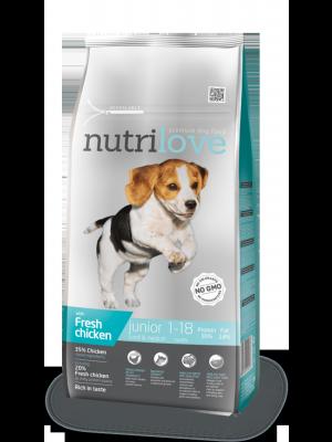 Nutrilove Premium dla psa JUNIOR S&M ze świeżym kurczakiem 8kg