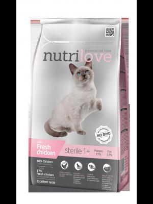 Nutrilove Premium dla kota STERILE ze świeżym kurczakiem 7kg