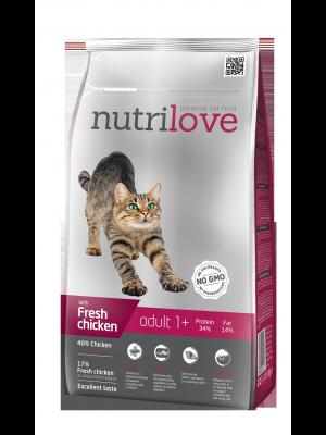 Nutrilove Premium dla kota ADULT ze świeżym kurczakiem 8kg