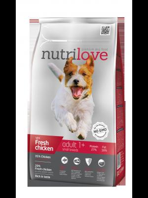 Nutrilove Premium dla psa ADULT S ze świeżym kurczakiem 8kg