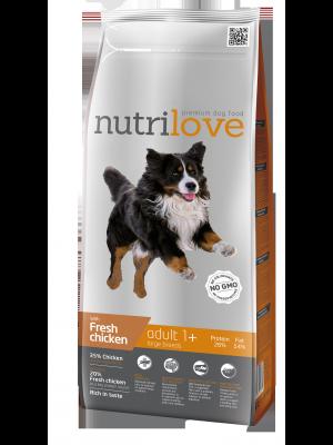 Nutrilove Premium dla psa ADULT L ze świezym kurczakiem 12kg
