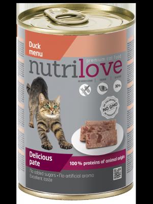 Nutrilove Premium pasztet dla kota z kaczki 400g