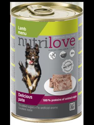 Nutrilove Premium pasztet dla psa z jagnięciny 400g