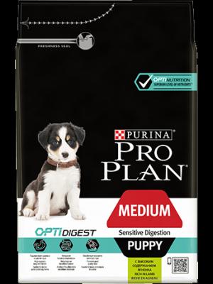 Purina Pro Plan OptiDigest Puppy Medium Sensitive Digestion z Jagnięciną 3kg