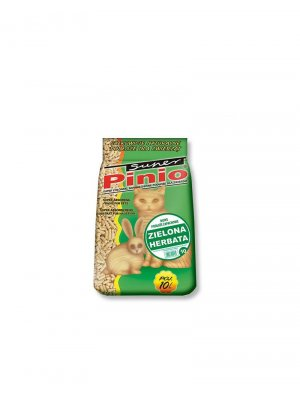 Super Benek Pinio Zielona Herbata- Żwirek Drewniany 10l