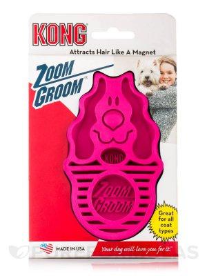 KONG Szczotka dla Psiaka Zoom Groom - Raspberry