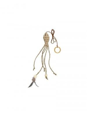 Ryba z piórkiem i sznurkami 27 cm
