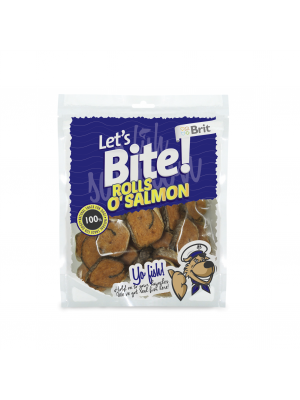 Brit Let's Bite Rolls o'Salmon 80 g