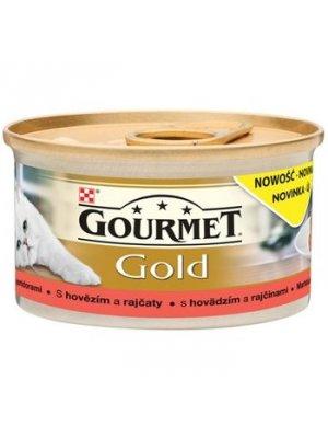 PURINA GOURMET GOLD SAVOURY CAKE WOŁOWINA Z POMIDORAMI 85g
