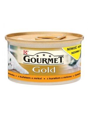 PURINA GOURMET GOLD SAVOURY CAKE Z KURCZAKIEM I MARCHEWKĄ 85g