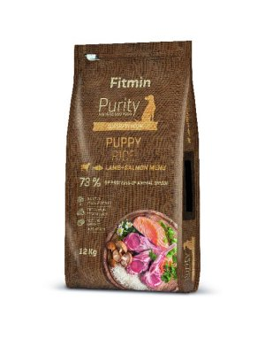 Fitmin Purity Dog Rice Puppy Lamb&Salmon 12 kg