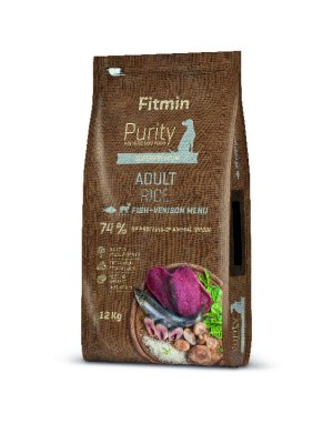 Fitmin Purity dog Rice Adult Fish&Venison 12 kg