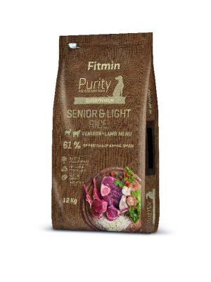 Fitmin Purity dog Rice Senior&Light Venison&Lamb 12 kg