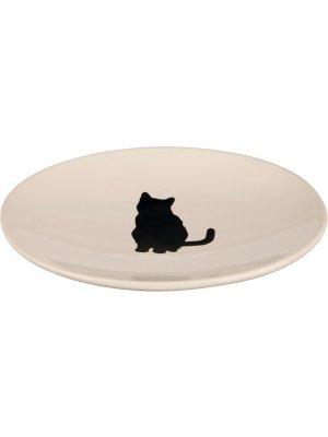 Miska-spodek ceramiczny 18x15cm biała