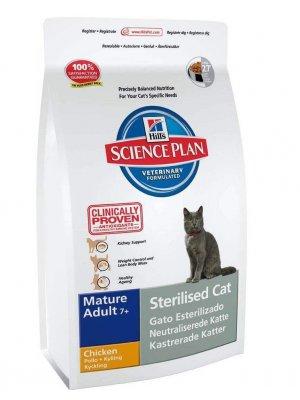 HILL'S SCIENCE PLAN FELINE STERILISED CAT MATURE 7+