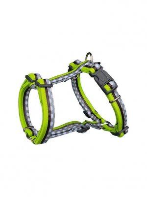 Trixie Szelki Freshline Spot M–L: 50–75 cm/25 mm - Szaro - zielone