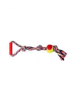 Trixie Zabawka Sznur bawełniany z piłką 50 cm