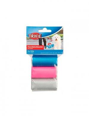 Trixie Torba na odchody z uchwytami 3 rolki po 15 szt - kolorowe