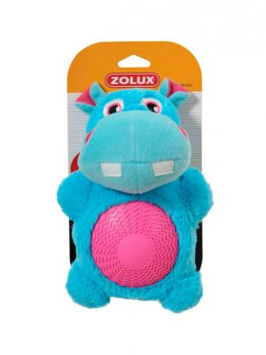 Zolux Hipopotam z gumowym brzuszkiem - 21,5 cm