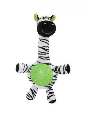 Zolux Zebra z gumowym brzuszkiem - 33 cm