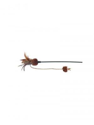 Zabawka dla kota z piórkami i kocimiętką 54 cm