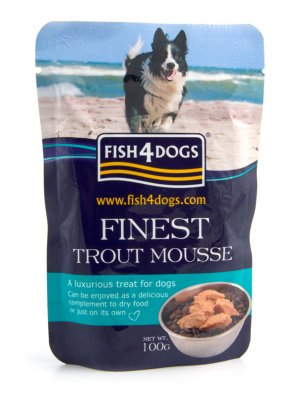 Fish4Dogs Finest Trout Mousse4Dogs - Mus z Pstrąg 100 g
