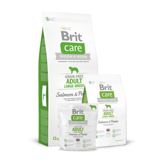 Brit Care Adult Large Breed - bez zbóż - Łosoś i Ziemniaki 12 kg