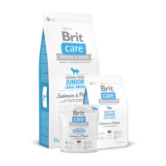 Brit Care Junior Large Breed Łosoś i Ziemniaki 1 kg - Bez zbóż