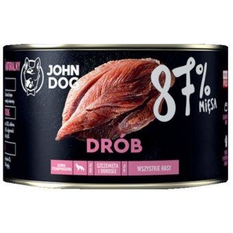 John Dog Karma Mokra Premium Drób 87% 410g