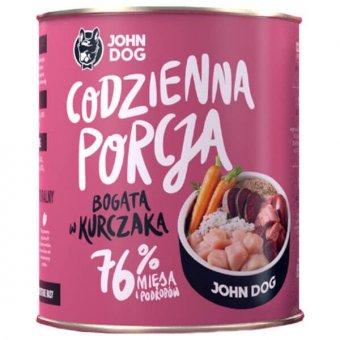 John Dog Karma Mokra Codzienna Porcja Bogata w Kurczaka 850g
