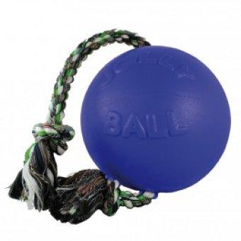 JOLLY PETS Piłka ze sznurem Niebieska 15 cm