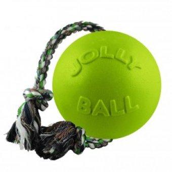 JOLLY PETS Piłka ze sznurem Zielona 15 cm