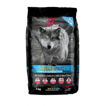 Alpha Spirit Pełnoporcjowa karma sucha miękka wild fish 3kg
