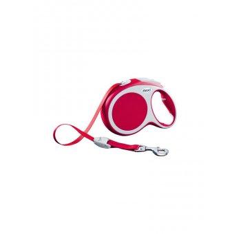 Flexi VARIO Smycz automatyczna - L taśma 5 m Czerwona