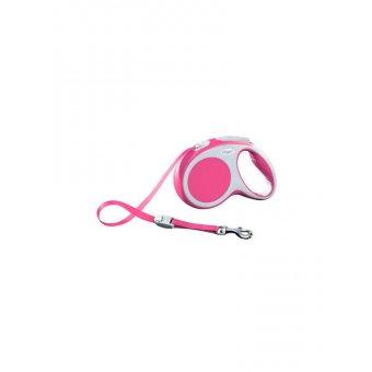 Flexi VARIO Smycz automatyczna - L taśma 8 m Różowa
